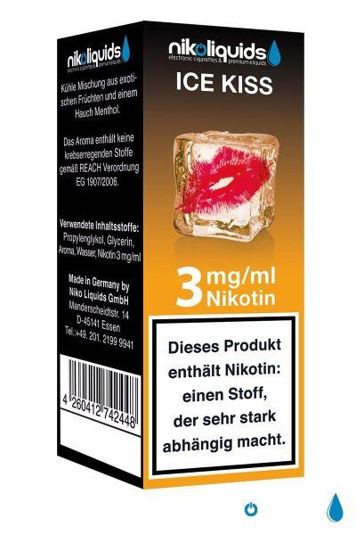 NikoLiquids Ice Kiss 3mg Nikotin/ml (10 ml)