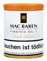 Mac Baren Pfeifentabak Virginia No.1 (Dose á 250 gr.)