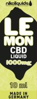 NikoLiquids CBD Lemon Liquid 1000mg/ml (Flasche á 10 ml)