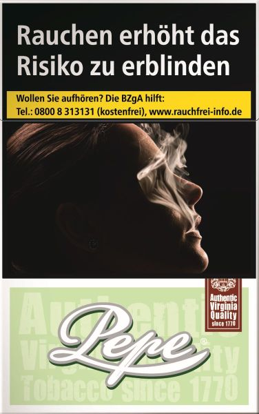 Pepe Zigaretten Bright Green (10x20er)