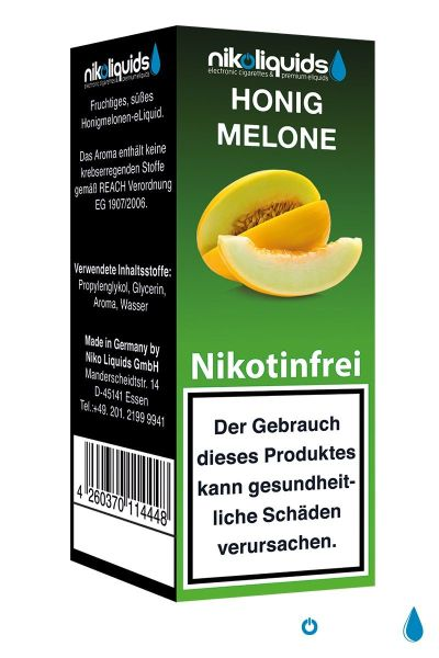 Honigmelone eLiquid 0mg Nikotin/ml (10 ml)