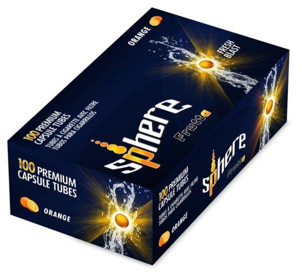 Sphere Orange Click Zigarettenhülsen (Schachtel á 100 Stück)