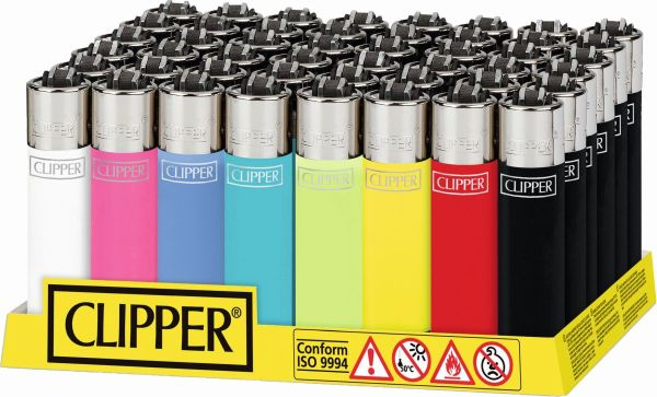 Clipper Feuerzeuge Solid Branded (48 x 1 Stk.)
