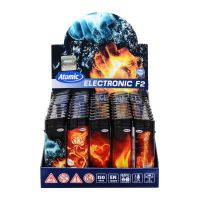 Feuerzeuge Atomic Elektronik Motiv Flammen (50 x 1 Stk.)