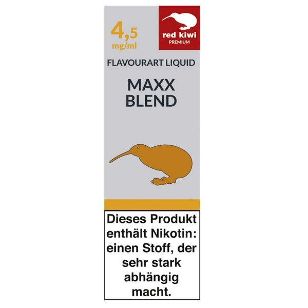 Red Kiwi eLiquid Maxx Blend 4,5mg Nikotin/ml (10 ml)