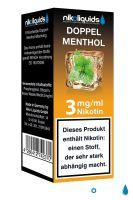 NikoLiquids Doppel Menthol eLiquid 3mg Nikotin/ml (10 ml)