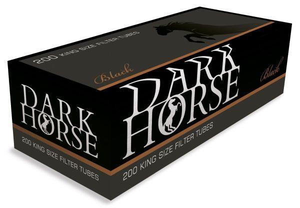 Dark Horse Black mit Kupfer Ring Filterhülsen Zigarettenhülsen