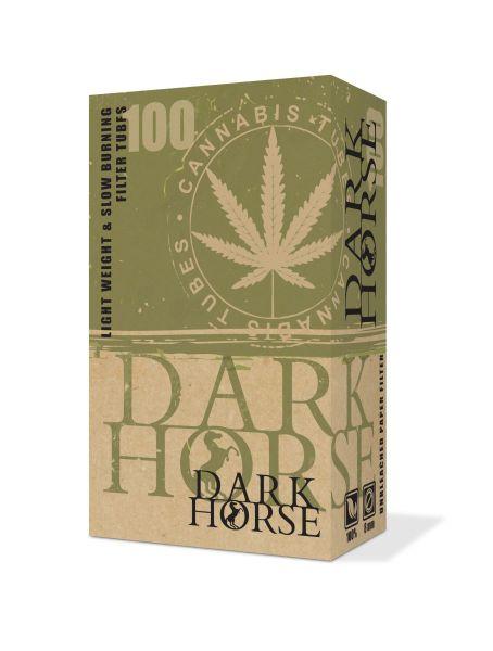 Dark Horse Canna ungebleicht Filterhülsen Zigarettenhülsen (Schachtel á 100 Stück)