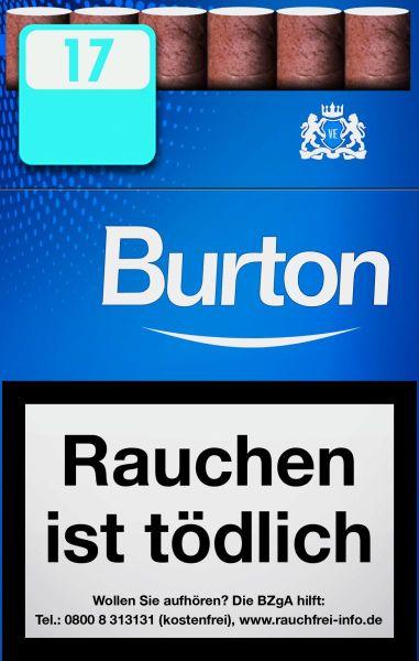 Burton Zigarillos Blue Naturdeckblatt Cigarillos L-Box (10x17 Stück) 2,20 €   22,00 €
