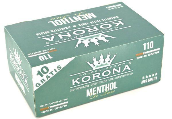Korona De Luxe Menthol Filterhülsen Zigarettenhülsen (Schachtel á 110 Stück)