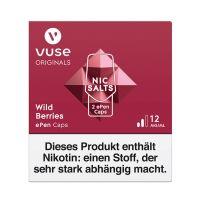 Vuse ePen Caps Wild Berries Nic Salts 12mg Nikotin 2ml (2 Stück)
