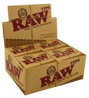 RAW Filter Tips Slim ungebleicht vorgerollt (20 x 21 Stück)