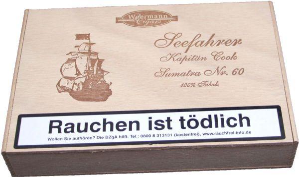 Wörmann Zigarren Kapitän Cook No. 60 Brasil (Packung á 25 Stück)