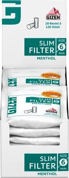 Gizeh Slim Menthol filter (10 x 120 Stück)