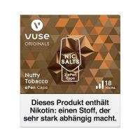 Vuse ePen Caps Nutty Tobacco Nic Salts 18mg Nikotin 2ml (2 Stück)