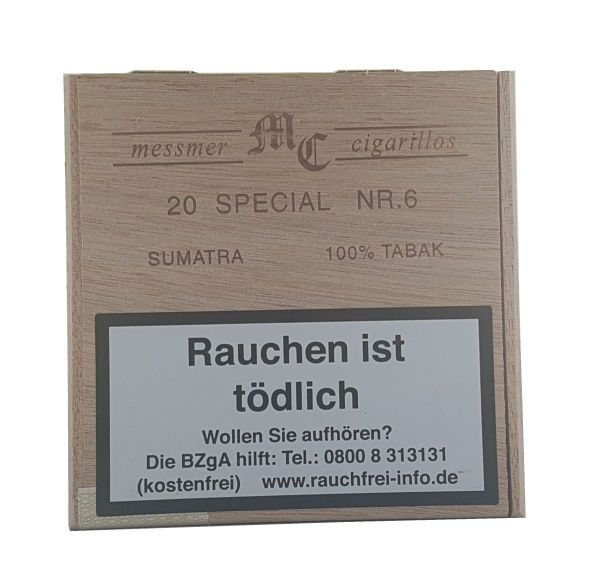 Messmer Zigarillos Kruse Cigarillos Nr. 6 Special Sum Holz (Schachtel á 20 Stück)