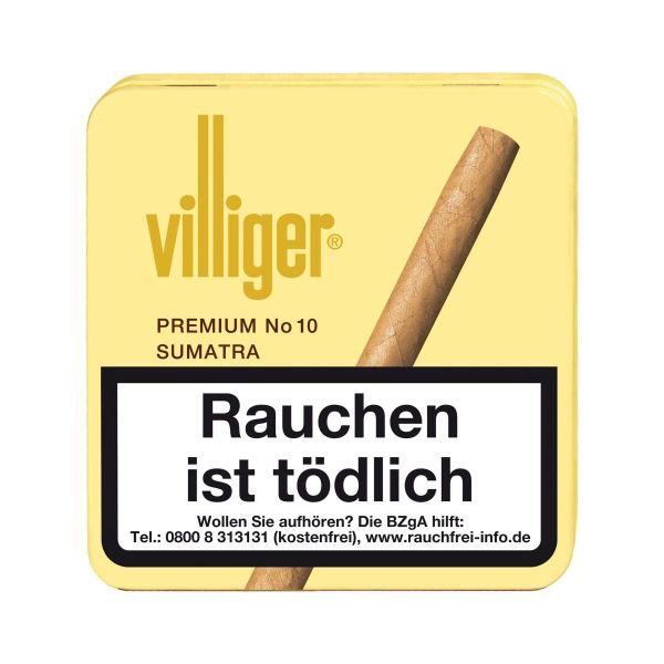 Villiger Zigarren Premium No. 10 Sumatra (Packung á 20 Stück)
