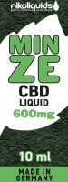 NikoLiquids CBD Minze Liquid 600mg/ml (Flasche á 10 ml)