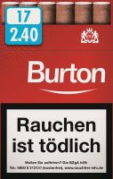 Burton Zigarillos Original Naturdeckblatt Cigarillos L-Box (10x17 Stück) 2,20 € | 22,00 €