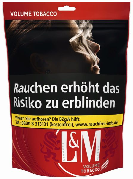 L&M Volumentabak Volume Tobacco Red (Beutel á 155 gr.)
