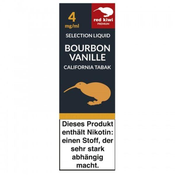 Red Kiwi eLiquid Selection Bourbon Vanille California 4mg Nikotin/ml (10 ml)