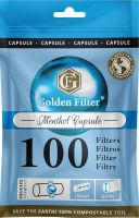 Golden Filter Menthol Capsule Slim 6mm (10 x 100 Stück)