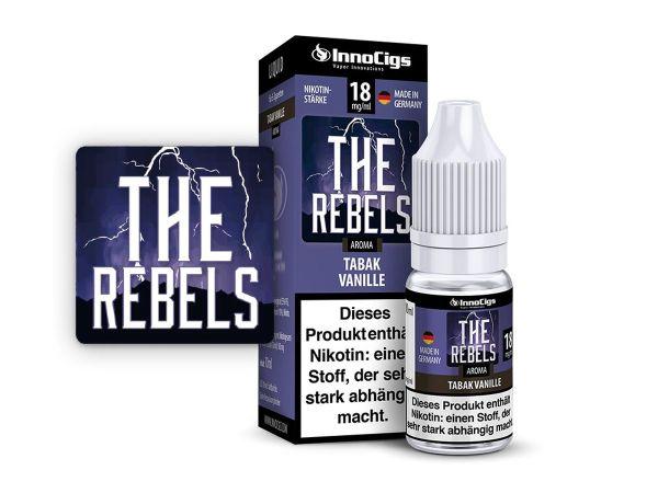 InnoCigs eLiquid The Rebels Tabak Vanille Aroma 18mg Nikotin/ml (10 ml)