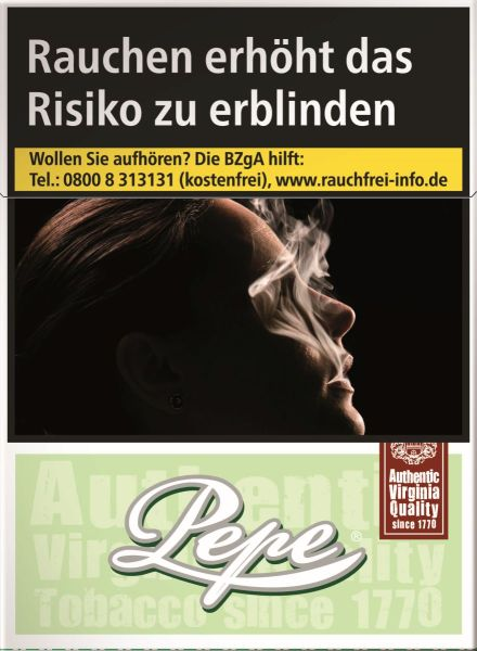 Pepe Zigaretten Bright (Easy) Green Maxi Pack (8x30er)