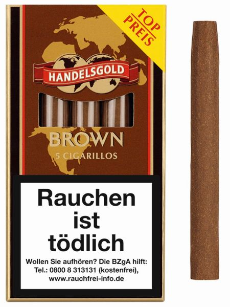 Handelsgold Zigarillos 204 Brown (Schachtel á 5 Stück)