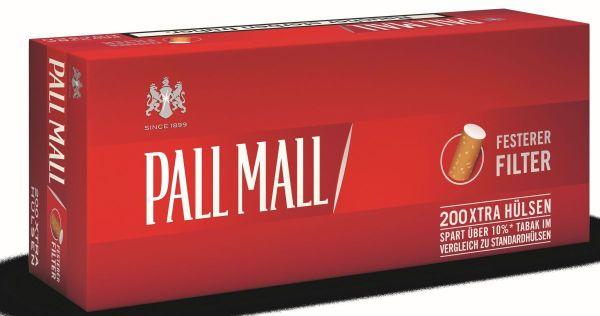 Pall Mall Red XTRA Hülsen (5 x 200 Stück)