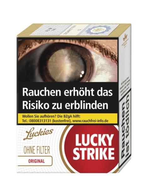 Lucky Strike Zigaretten Original Red ohne Filter (10x20er)