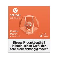 Vuse ePen Caps Classic Peach Nic Salts 12mg Nikotin 2ml (2 Stück)