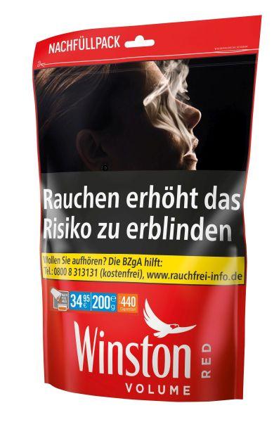 Winston Volumentabak Volume Red Zip Bag-XXXL Nachfüllpack (Beutel á 185 gr.)