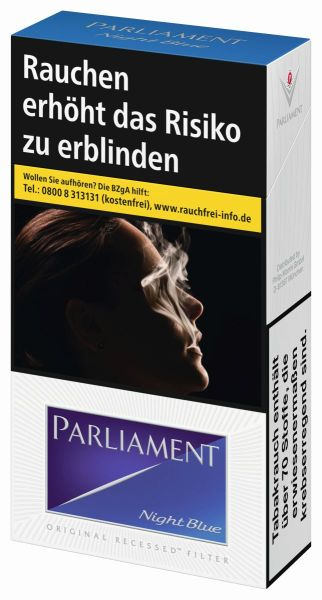 Parliament Zigaretten Night Blue Long (10x20er)