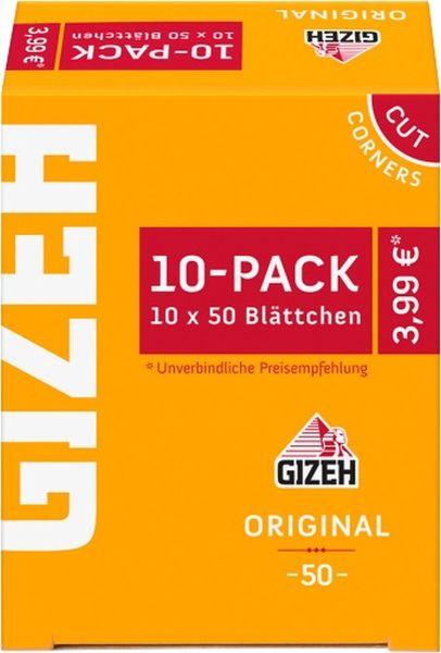Gizeh Original gelb Zigarettenpapier 10er-Pack (10 x 10 Stk.)