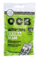 OCB Activ Tips Extra Slim 6mm Aktivkohlefilter (50 Stück)
