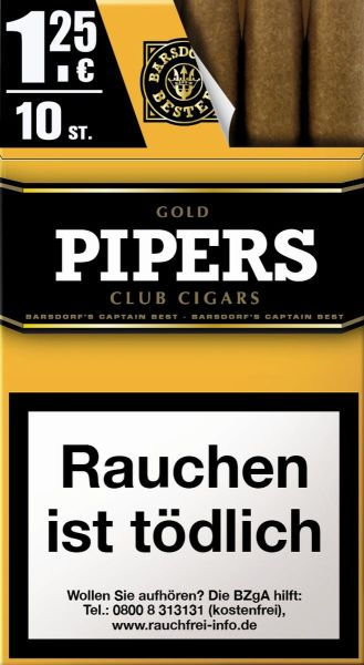 Pipers Little Cigars Vanilla / Gold