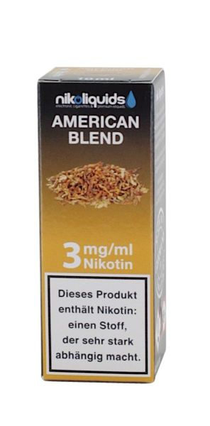 NikoLiquids American Blend eLiquid 3mg Nikotin/ml (10 ml)