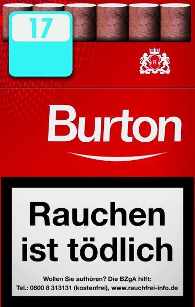 Burton Zigarillos Original Naturdeckblatt Cigarillos L-Box (10x17 Stück) 2,20 €   22,00 €
