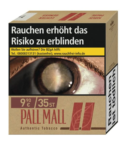 Pall Mall Authentic Red 9,90€ (Giga)