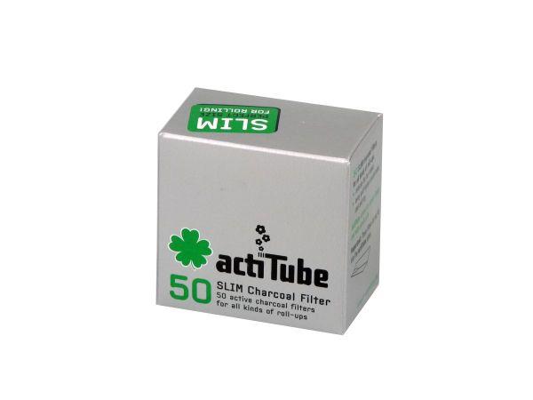 actiTube Slim Aktivkohlefilter 6,9mm (50 Stück)