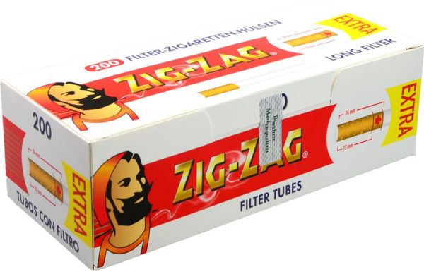 Zig Zag Extra Zigarettenhülsen (5 x 200 Stück)