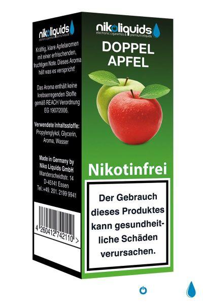 NikoLiquids Doppel Apfel eLiquid 0mg Nikotin/ml (10 ml)