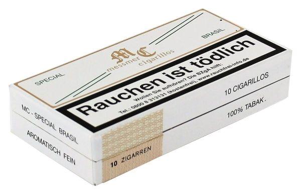 Messmer Zigarillos Kruse Cigarillos Special Brasil Pappschachtel (Packung á 10 Stück)