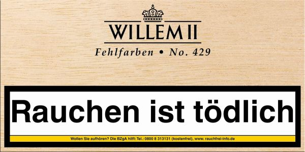 Scandinavian Zigarillos Willem II Fehlfarben 429 Sumatra (Packung á 100 Stück)