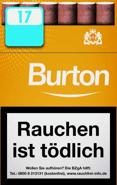 Burton Zigarillos Gold Naturdeckblatt Cigarillos L-Box (10x17 Stück) 2,20 € | 22,00 €