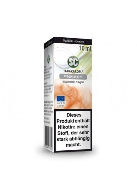 SC eLiquid Virginas Best Tabak 6mg Nikotin/ml (10 ml)