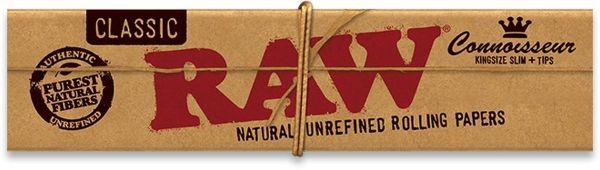 RAW Connoisseur King Size Slim Zigarettenpapier + Tips (24 x 32 Stück)