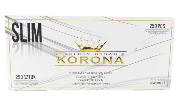 Korona Golden Crown Slim White Zigarettenhülsen (Schachtel á 250 Stück)