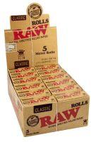 RAW Rolls Classic Zigarettenpapier ungebleicht 5m (24 x 1 Stück)
